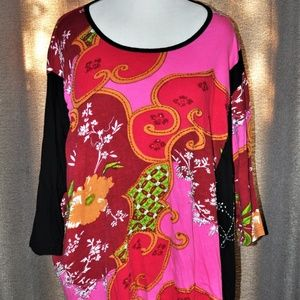 Oversized Embellished Floral Tunic